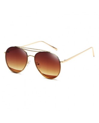 Retro Vintage Metal Small Oval Round Women Men Fashion Designer Sunglasses