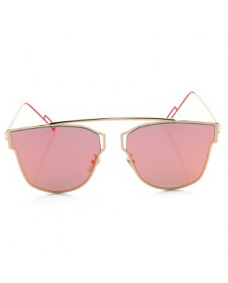 Metal Frame Coating Mirror Flat Panel Lens Design Sunglasses