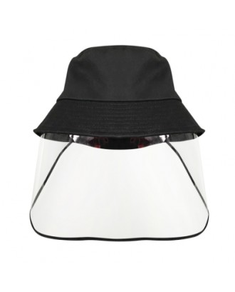 Transparent Protective Hat Anti-saliva Anti-fog Cap Isolation Removable Mask Cover Face