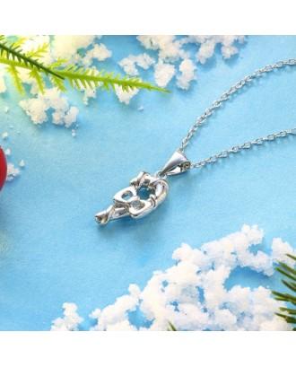 Christmas Zircon Bow Necklace