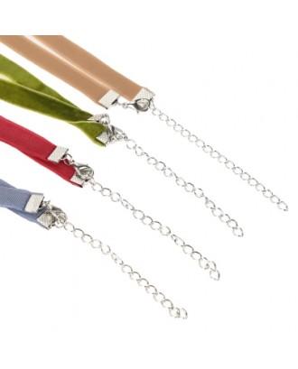 Velour Choker Necklace Set