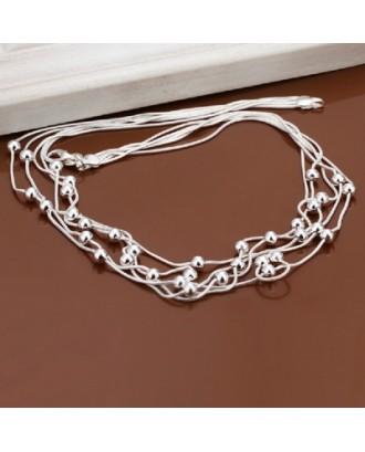 Fashion Jewelry Simple Ball Pendant Fashion Snake Necklace