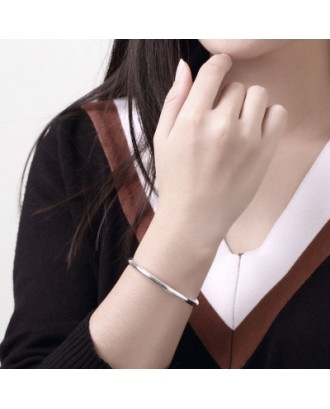 Male Double Bead Bracelet Fashion Circular Shape Silver Bracelet