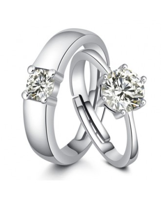 Lovers Couple Simple Proposal Gift Ring 1 Pair