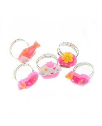 Lovely Children Adjustable Rings Playing Dress Up Jewelry Toys