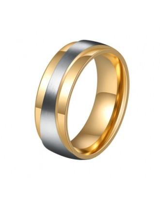 Men\'s Steel Lovers Gold-Plated Rings 01171 Personality Gifts Jewelry
