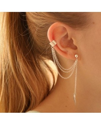 1PC Stylish Leaf Pendant Ear Cuff For Women