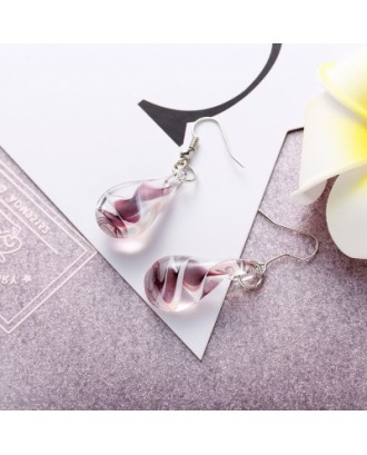 Ethnic Style Charm Jewelry Coloured Glaze Water Droplets Drop Earrings