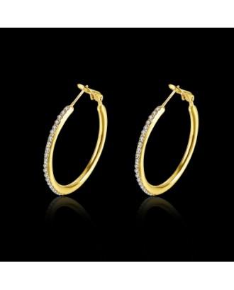 Fashion Jewelry Round Czech Diamond Earrings