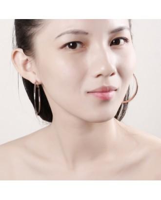 Environmental Protection Golden Round Earrings E949-B